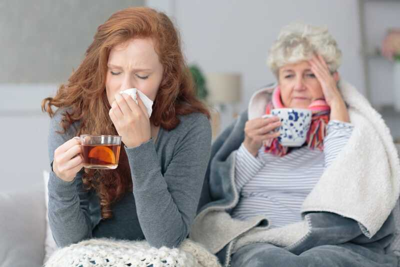 mother daughter with the flu RGLZ personal injury law