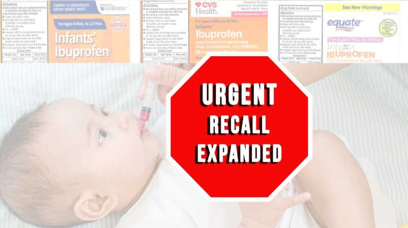Recall infants Ibuprofen oral suspension