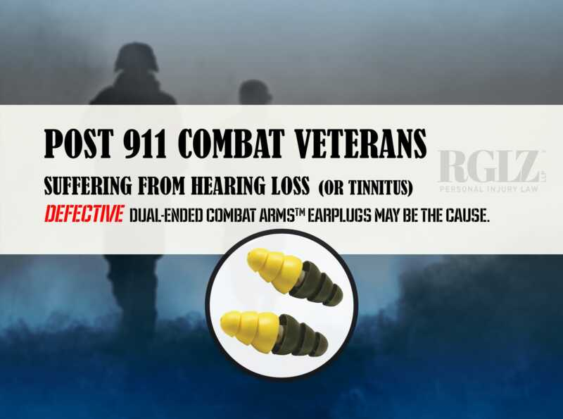 Post 911 combat veterans suffering from hearing loss