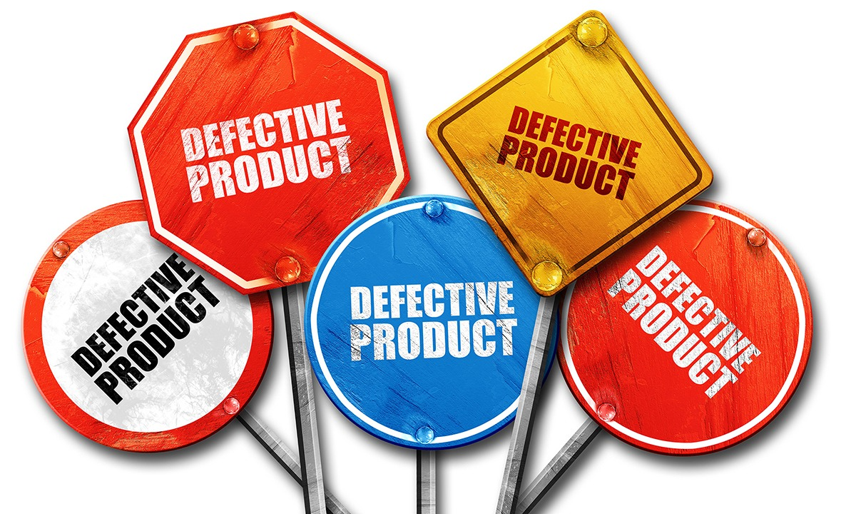 Road Signs that say Defective Products