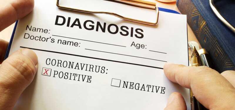 Coronavirus Diagnosis on Clipboard